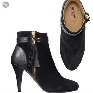 AVON black tassel boots NWOT, in original wrapping